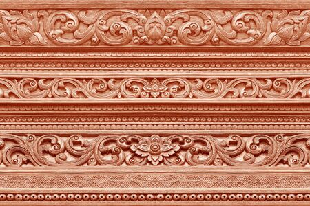 wood carvings: Wood carvings on the wall temple in chaing mai Thailand; thai art style