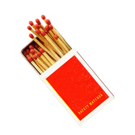 Box of matches isolated on white background Stock Photo