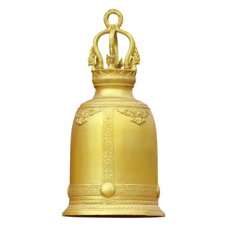 golden bell isolated on white background