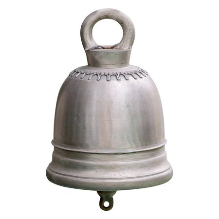 Ancient thai bell, big bell isolate on white background 版權商用圖片