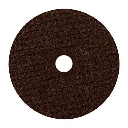 Abrasive brown discs for grinder machine wheel isolated on white background