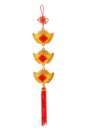 Chinese New Year decoration isolated on white background Stockfoto