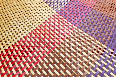 bunter Bambus gewebter Musterhintergrund, für den Hintergrund strukturiert