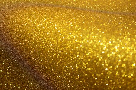 Gold abstract bokeh background, gold glitter lights background
