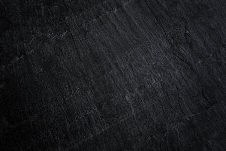 Dark grey black slate background or natural stone texture. Black stone wall and floor