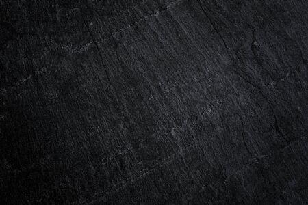 Donkergrijze zwarte leisteenachtergrond of natuursteentextuur. Zwarte stenen muur en vloer Stockfoto