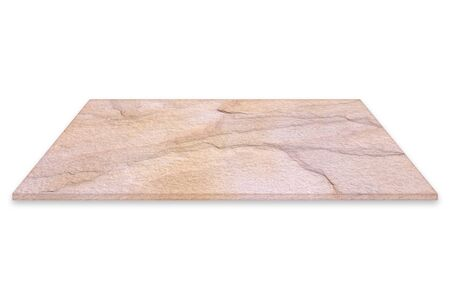 brown sandstone plate or sheet for construction isolated on white background