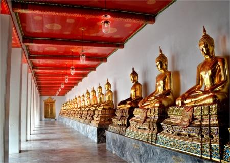 bangkok temple: Thai Golden Buddha in Bangkok temple