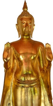 bangkok temple: Golden buddha in Bangkok temple