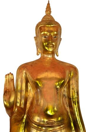 sacramentale: Oro buddha nel tempio di Bangkok