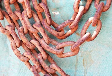 enchain: Rusty chain Stock Photo