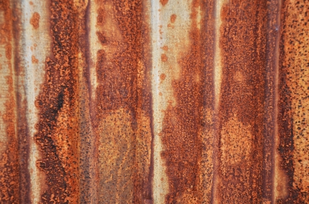 cast off: The old rusty tin roof  Stock Photo