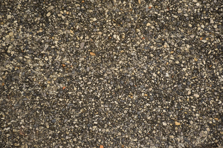 on aggregate: Exposed aggregate concrete surface