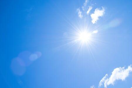 Sunshine on the blue sky