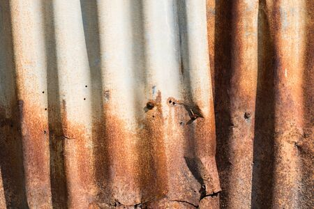close up rusty old zinc texture background Stock Photo