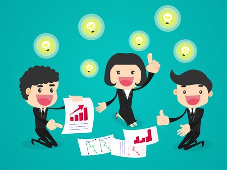 Businessman sharing ideas each other. Illustration