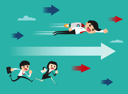 Business competition concept. vector illustration.