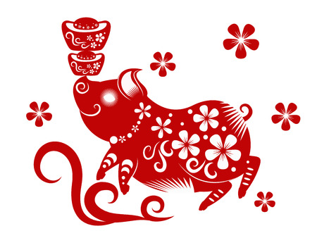 Happy chinese new year 2019. Year of the pig. vector illustration. Stockfoto - 102998476