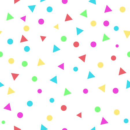 Colorful dot and triangle seamless pattern background. vector illustration. Çizim