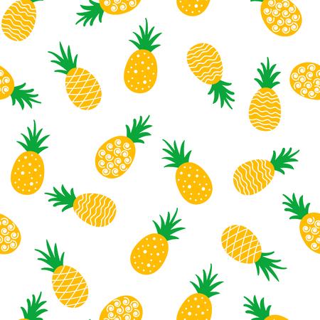 pineapple seamless pattern background. vector illustration.