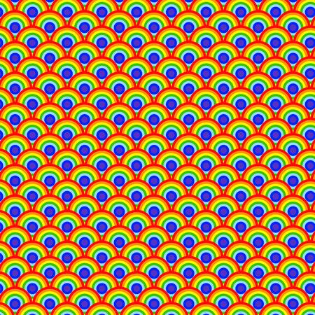 Rainbow wave. Japan style. vector illustraion. 向量圖像