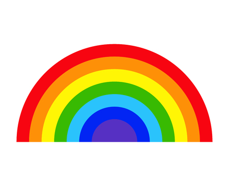 Colorful rainbow isolated on white background. vector illustration.