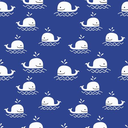 whale pattern seamless vector. 矢量图像