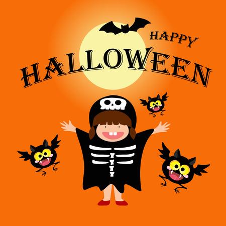 Happy halloween day concept. vector illustration.