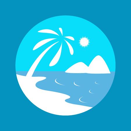 sea icon vector illustration.