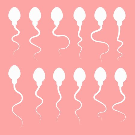 sperm and egg. vector illustration Stock Illustratie
