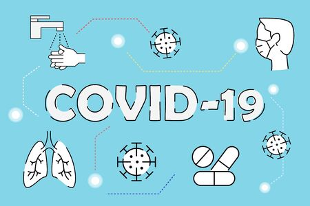covid-19 virus protection concept background. vector illustration