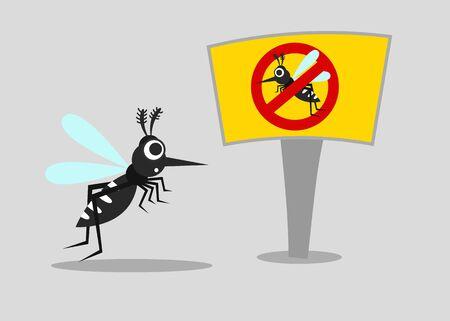 mosquito carrier of dengue fever, chikungunya, zika and malaria concept. vector illustration.