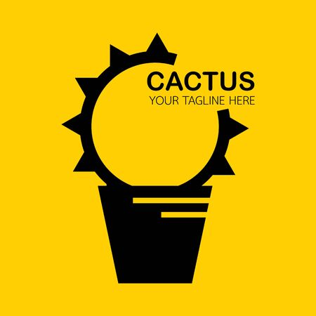 cactus logo, icon modren style design. vector illustration Stock Illustratie