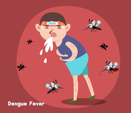 Mosquito the carrier of dengue fever and zika virus. Mosquito control. vector illustration design.