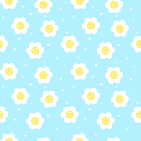 flower seamless pattern background. vector illustration