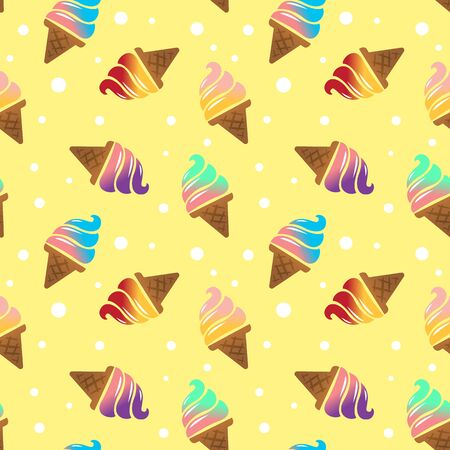 ice cream seamless pattern background. vector illustration Stock Illustratie