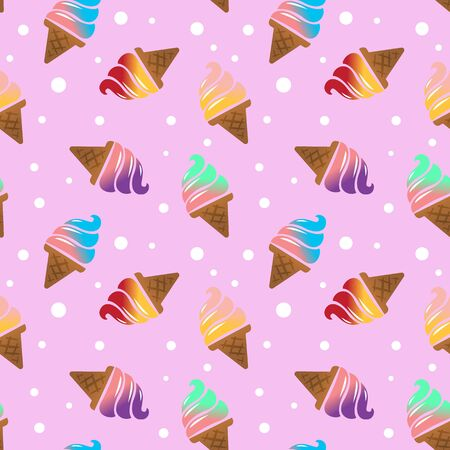 ice cream seamless pattern background. vector illustration 向量圖像