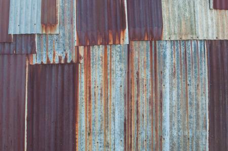 녹슨 된 아연 도금 된 철판 질감 배경