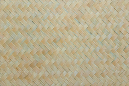 texture of native thai style weave bamboo wall background photo