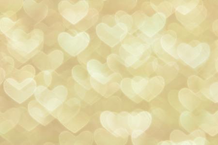 황금 심장 조명 추상 발렌타인 배경