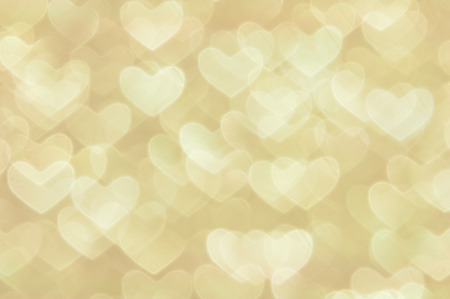 golden heart lights abstract valentines day background Фото со стока