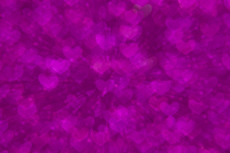 purple heart lights abstract background photo
