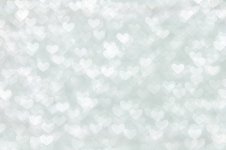 clean heart: white heart lights abstract valentines day background Stock Photo