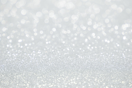 silver background: white glitter christmas abstract background