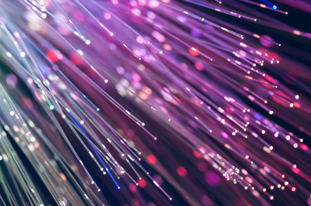 defocused abstract fiber optics lights background