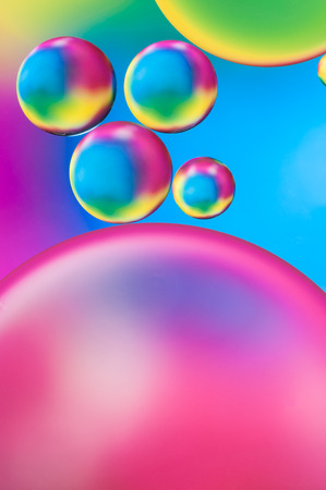 colorful water surface: colorful oil drops on a water surface abstract background