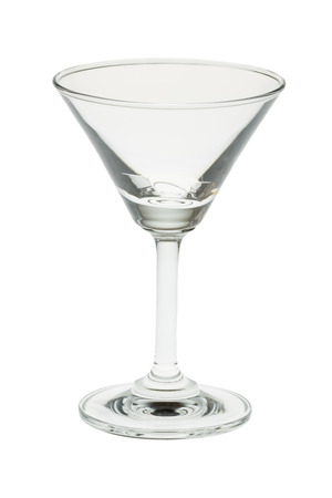 glas: empty cocktail glas isolated on a white background Stock Photo
