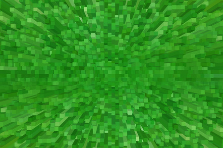 extrude: green digital abstract 3d extrude background