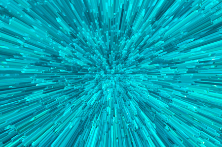 extrude: blue digital abstract 3d extrude background Stock Photo