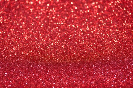 red glitter christmas abstract background Stock Photo
